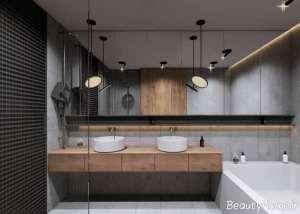 طراحی داخلی سرویس بهداشتی شیک و مدرن
