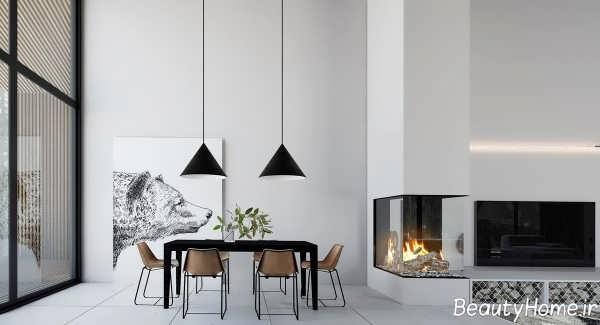 طراحی داخلی اتاق نشیمن ویلا
