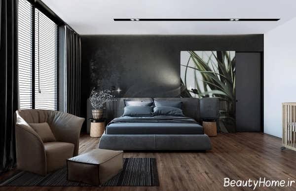 طراحی داخلی ویلای اروپایی سیاه و سفید