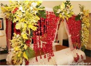 تزیین اتاق خواب با گل