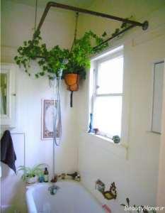 تزیین حمام با گل