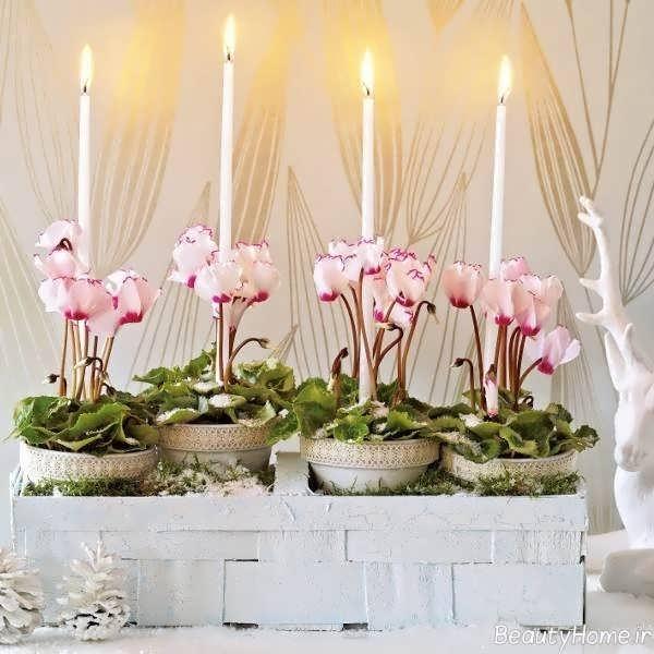 تزیین منزل با گل و شمع