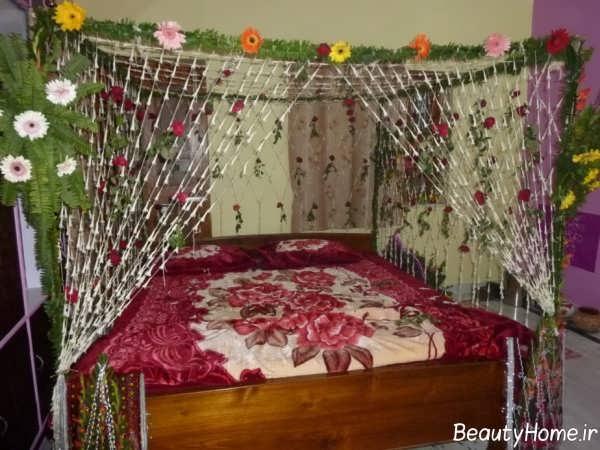 تزیین اتاق خواب با گل های مصنوعی
