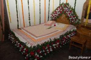 تزیین زیبا و شیک اتاق خواب با گل