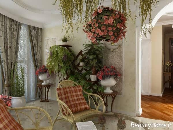 تزیین زیبا و شیک منزل با گل