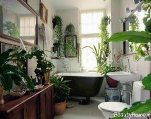 تزیین سرویس بهداشتی با گل