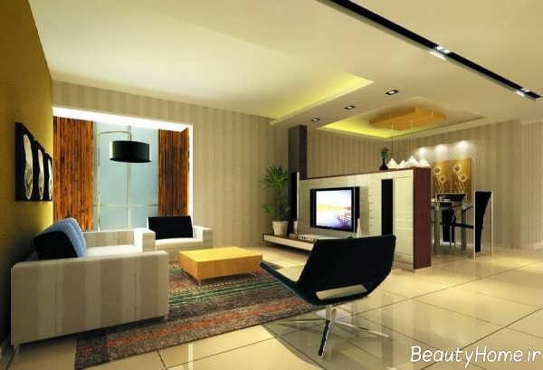 دیزاین زیبا و شیک سالن پذیرایی