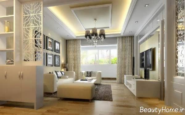 طراحی شیک و جالب سالن پذیرایی