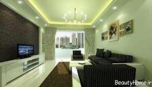 طراحی داخلی زیبا و حرفه ای سالن پذیرایی
