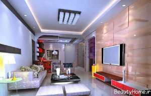 طراحی داخلی سالن پذیرایی مدرن و شیک