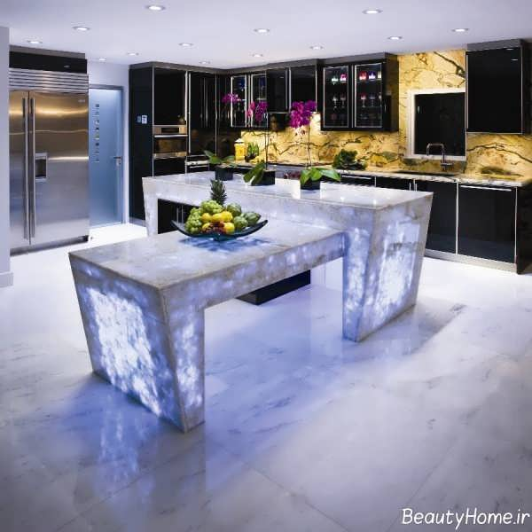 نورپردازی زیبا و کاربردی آشپزخانه