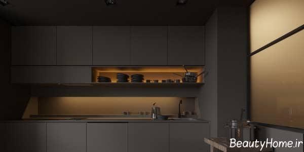 طراحی داخلی زیبا و مدرن آشپزخانه