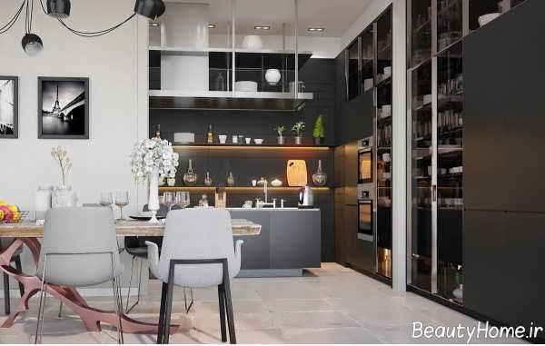طراحی داخلی زیبا و متفاوت آشپزخانه