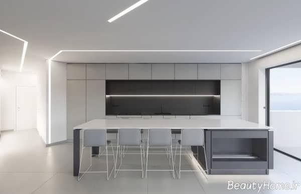 دکوراسیون آشپزخانه خاکستری