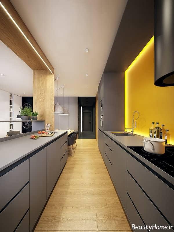 نورپردازی گرم آشپزخانه