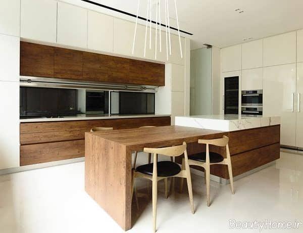 دکوراسیون زیبا و شیک آشپزخانه مدرن