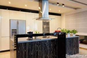 دکوراسیون آشپزخانه مدل جزیره شیک