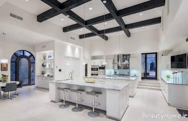 طراحی داخلی آشپزخانه جزیره