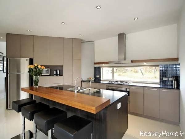 طراحی داخلی شیک و کاربردی آشپزخانه