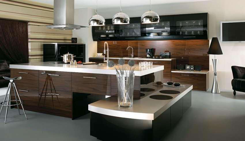 طراحی دکوراسیون آشپزخانه مدل جزیره