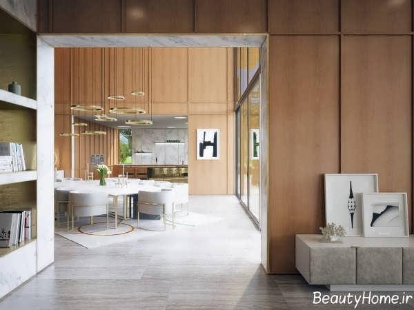 طراحی داخلی زیبا و مدرن خانه ویلایی