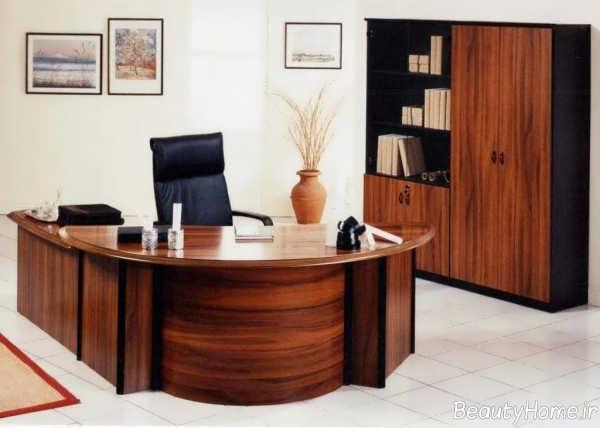 دکوراسیون زیبا و مدرن دفتر کار