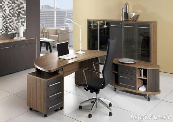 دکوراسیون زیبا و متفاوت دفتر کار
