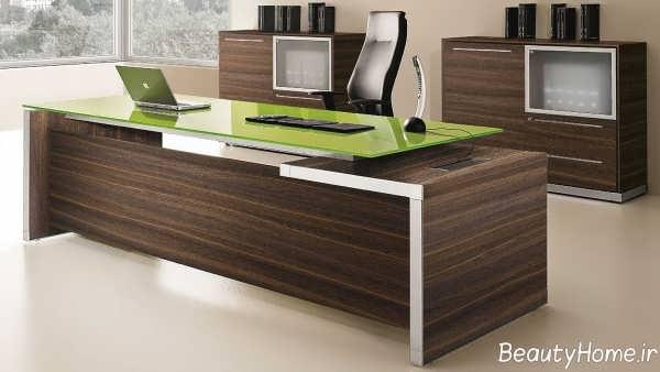 دکوراسیون زیبا و کاربردی دفتر کار