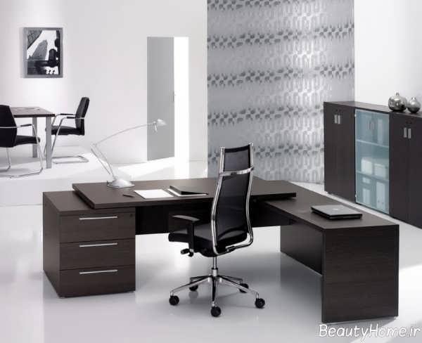 دکوراسیون شیک و کاربردی دفتر کار