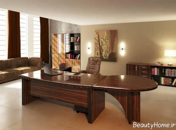 طراحی زیبا و متفاوت دفتر کار
