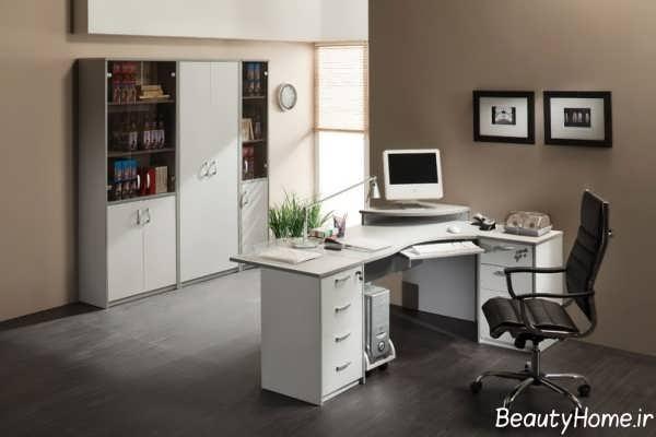 طراحی دکوراسیون دفتر کار شیک و جدید