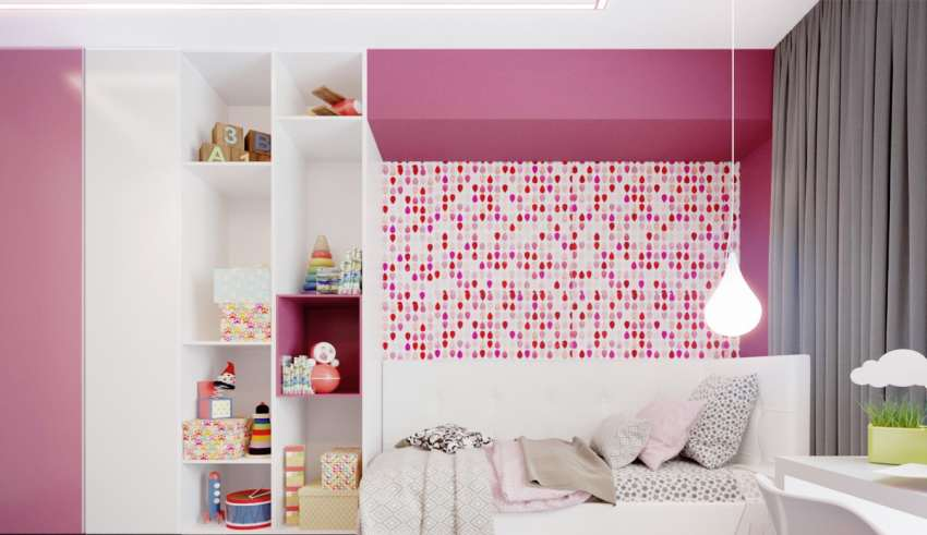 رنگ صورتی در اتاق کودک