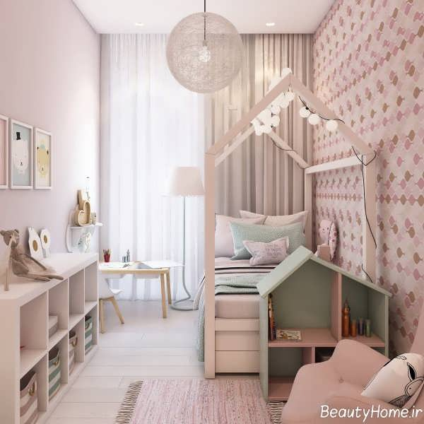 رنگ صورتی زیبا در اتاق کودک دخترانه