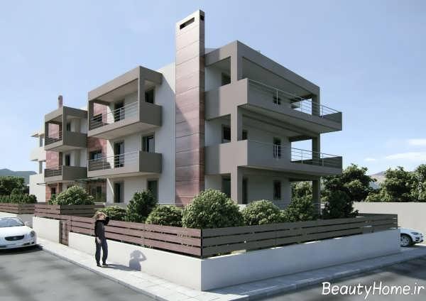 طراحی نمای شیک و زیبا ساختمان