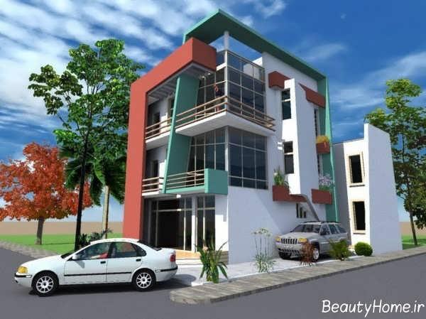 طراحی نما ساختمان مدرن و زیبا