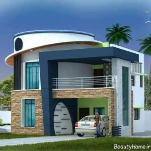 نمای ساختمان مسکونی مدرن و جالب