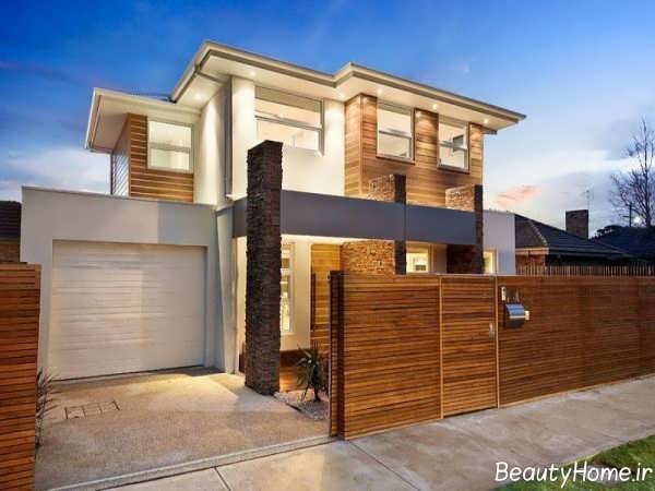طراحی نورپردازی نمای ساختمان مسکونی