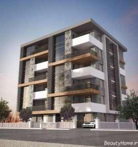 طراحی نما ساختمان چند طبقه