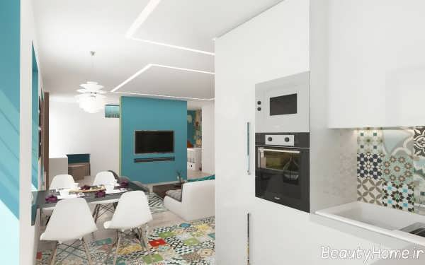دکوراسیون زیبا و کاربردی آپارتمان کوچک