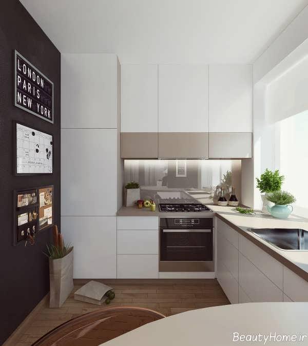 دکوراسیون داخلی آشپزخانه شیک و کوچک