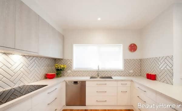 مدل کابینت سفید برای آشپزخانه کوچک