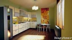 مدل کابینت سفید و شیک آشپزخانه
