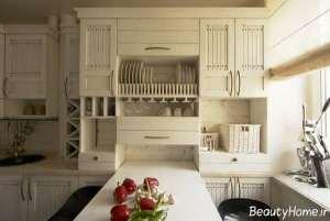 مدل کابینت سفید و کلاسیک