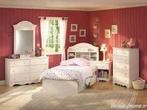 مدل تخت خواب سفید و مدرن