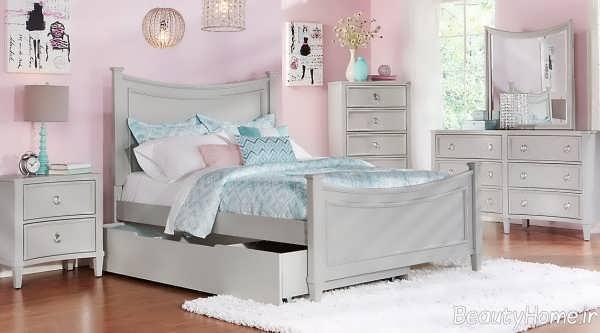مدل تخت خواب نوجوان دخترانه