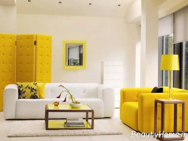 رنگ اتاق نشیمن مناسب و شیک