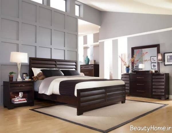 مدل سرویس خواب چوبی مدرن و زیبا