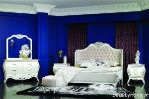 مدل سرویس خواب چوبی سفید