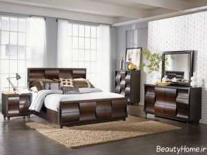 سرویس خواب زیبا و مدرن چوبی