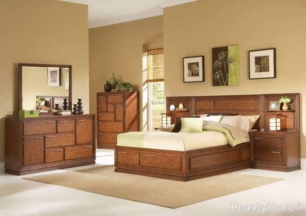 مدل سرویس خواب شیک و جذاب چوبی